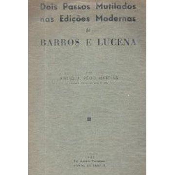MARTINS (ATÍLIO A. REGO) - DOIS PASSOS MUTILADOS NAS EDIÇÕES MODERNAS DE BARROS E LUCENA.