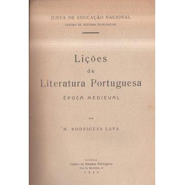 LAPA (MANUEL RODRIGUES) - LIÇÕES DE LITERATURA PORTUGUESA.