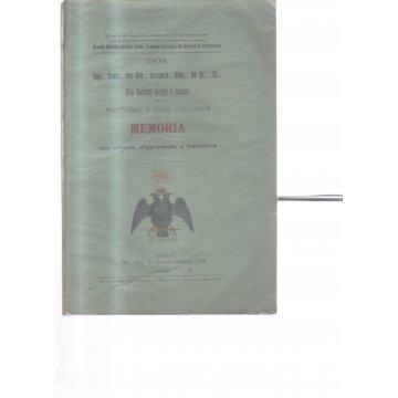 GRANDE ORIENTE LUSITANO UNIDO, SUPREMO CONSELHO DA MAÇONARIA PORTUGUESA. - 1908 - SUP: CONS. DOS CGR:IINSPECT:CGER: DO GR: 33. DO RITO ESCOCES ANTIGO