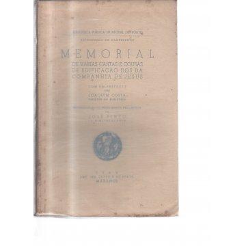 PINTO (JOSÉ) - REPRODUÇÃO DE MANUSCRITOS MEMORIAL DE VÁRIAS CARTAS E COUSAS DE EDIFICAÇÃO DOS DA COMPANHIA DE JESUS.