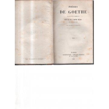 BLAZE (HENRI) - POESIES DE GOETHE