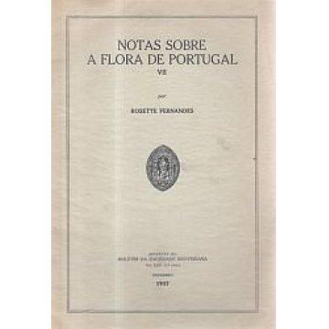 FERNANDES (ROSETTE) - NOTAS SOBRE A FLORA DE PORTUGAL- VII
