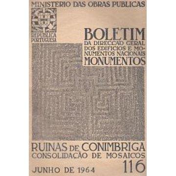 BOLETIM DA D.G.E.M.N. Nº 116 - RUÍNAS DE CONIMBRIGA -CONSOLIDAÇÃO DE MOSAICOS.
